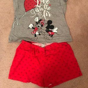 Minnie and Mickey pjs